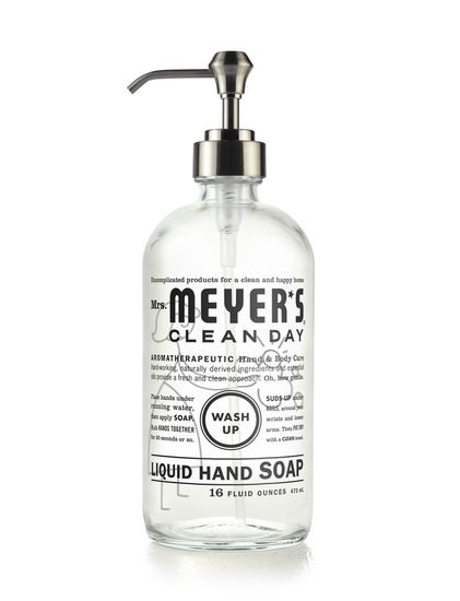 Mrs. Meyer's Clean Day Glass Hand Soap Bottle
