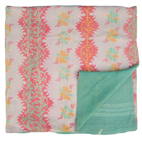 Vintage Kantha Quilt via Niki-Jones