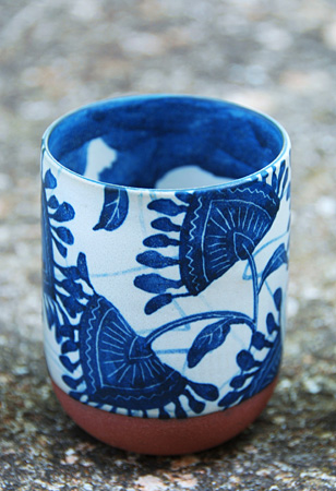 10 Cobalt Blue Patterns for Inspiration on the Oaxacaborn blog - Chantal Césure Ceramics