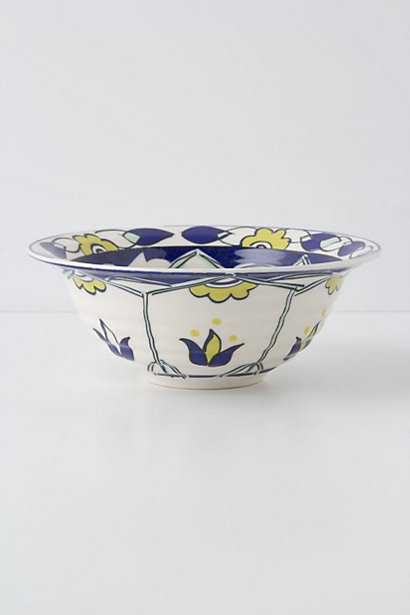 10 Cobalt Blue Patterns for Inspiration on the Oaxacaborn blog - Anthropologie Bowl