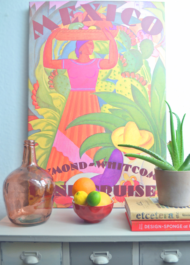 Console-Styling- via the Happy Interior Blog | 10 Neon/Fluro Images for Summery Inspiration, a post on www.oaxacaborn.com