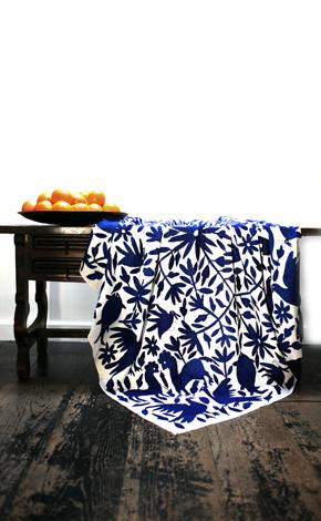 10 Cobalt Blue Patterns for Inspiration on the Oaxacaborn blog - Fabric via La Viva Home