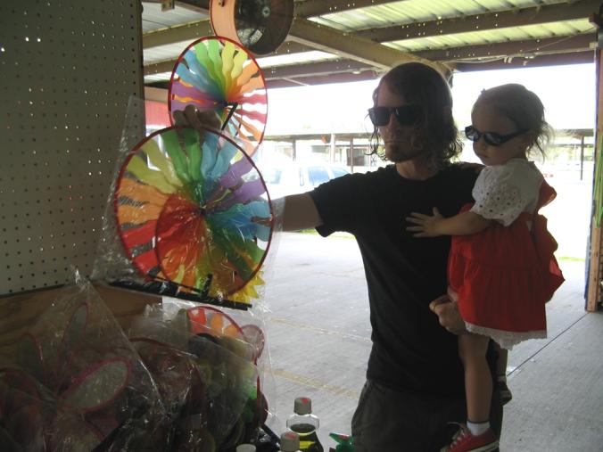Buying windmills at a flea market