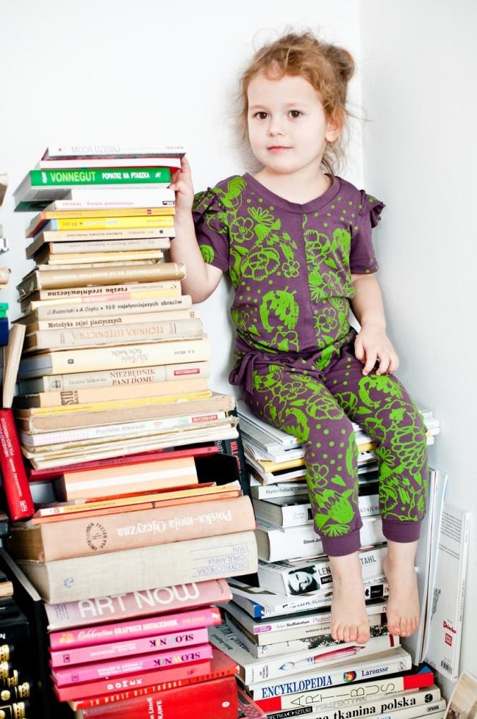 Jumpsuit via the Polish children's clothing brand Miszkomaszko