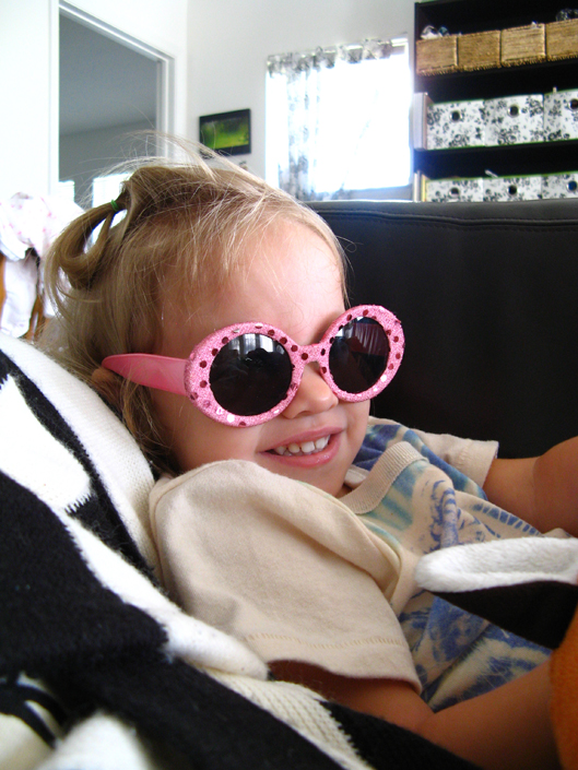June 2013 - Aveline in Hollywood sunglasses