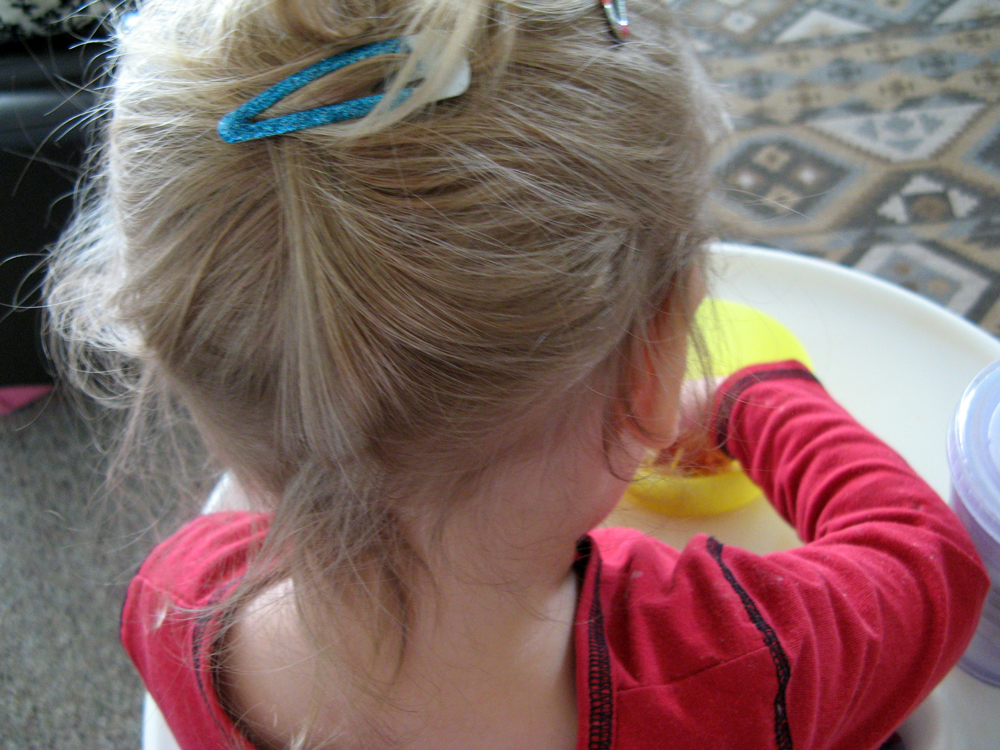Tiny toddler updo