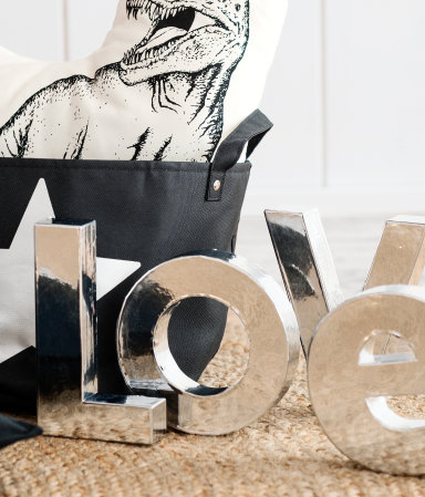 Decorative letters from H&M Home