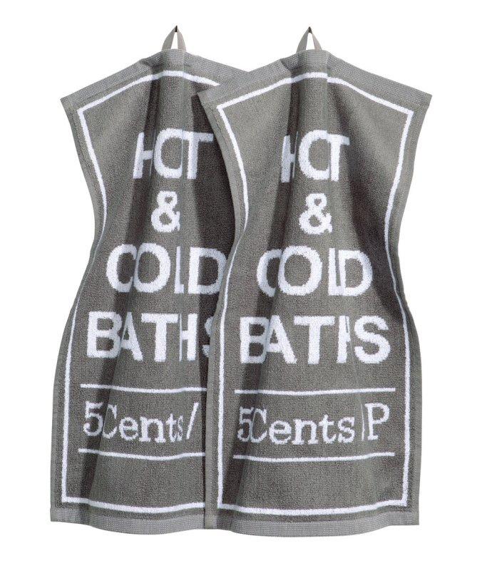 Hot and Cold Baths 5c Towel via H&M Home