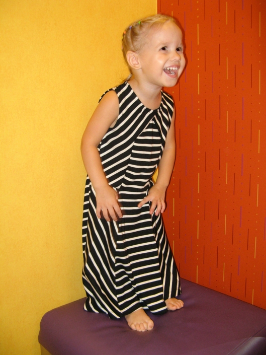 Image - Aveline Alenka in JCP JCPenney Back to School Collection - FirstDayLook Toddler Style Striped Maxi Dress Oaxacaborn blog copy