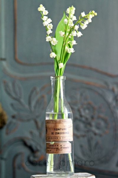 Muguet in Old Bottle - via Tongue in Cheek by Corey Amaro