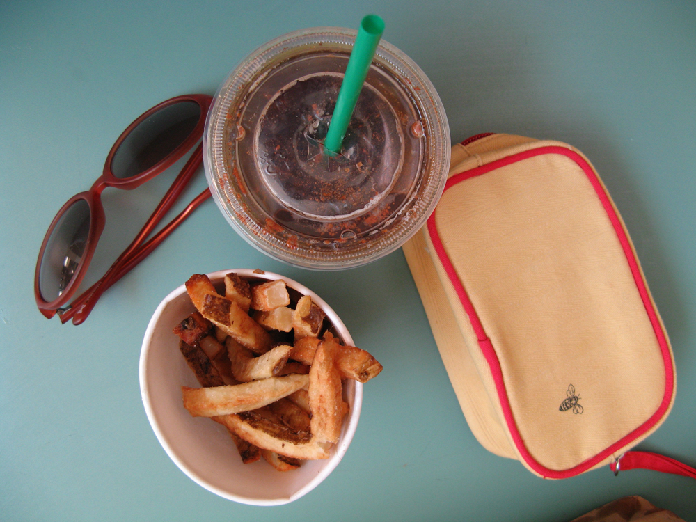 Starbucks and Fries