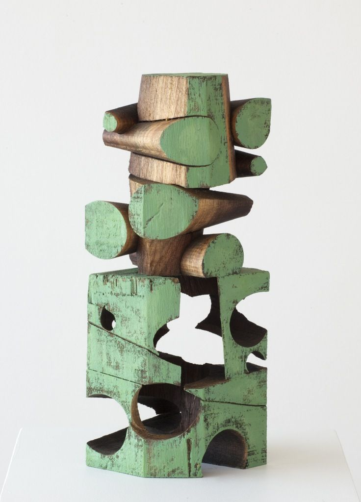 Mel Kendrick Walnut Wood Sculpture