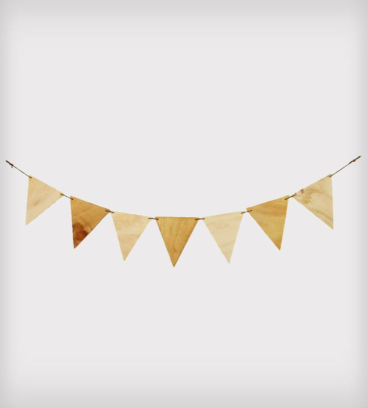 Plywood Triangles Bunting Banner via AGAINST THE WOODGRAIN on Scout Mob