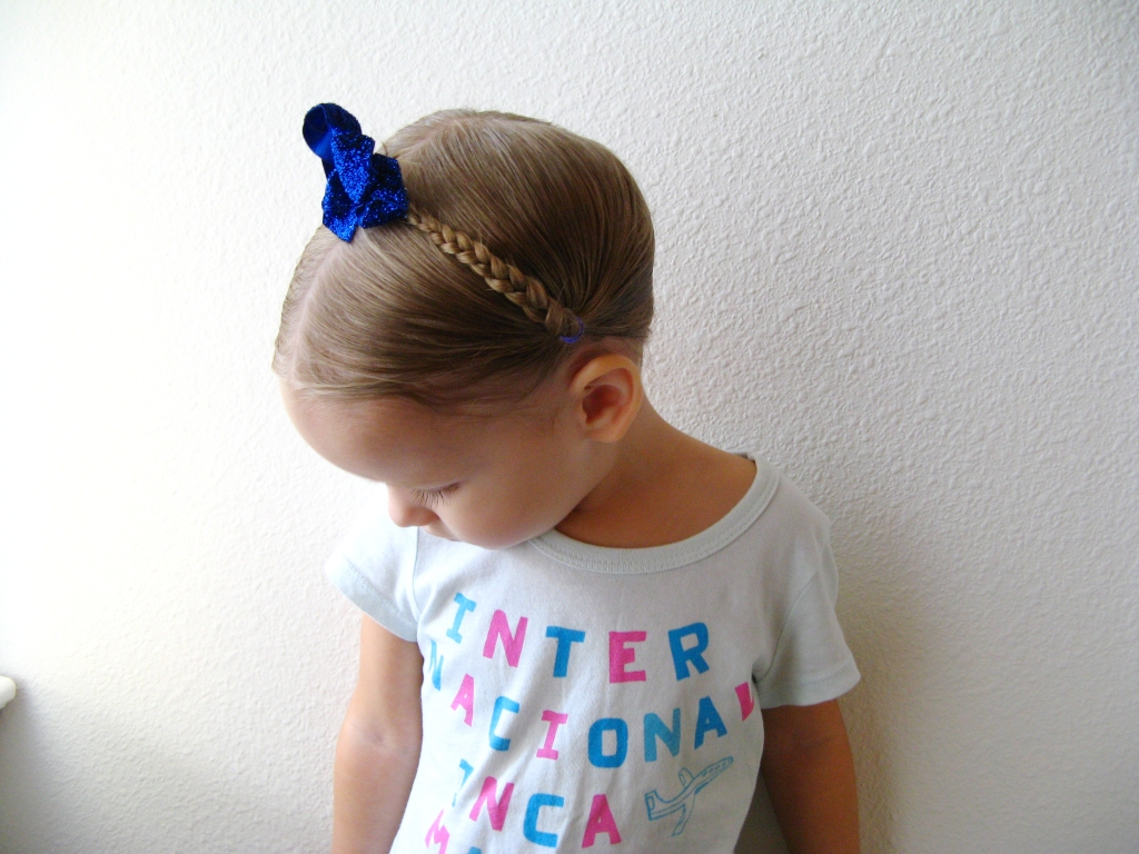 September 2013 - 2 - Milkmaid Braids on a Toddler