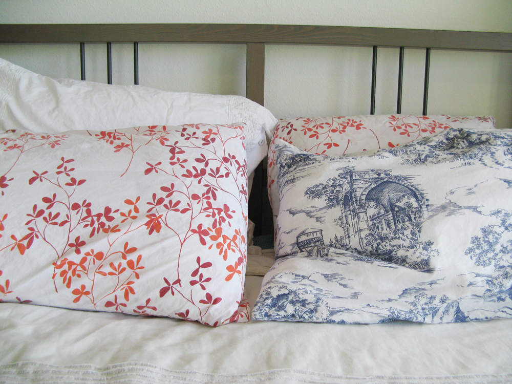 Blue Toile Pillowcase