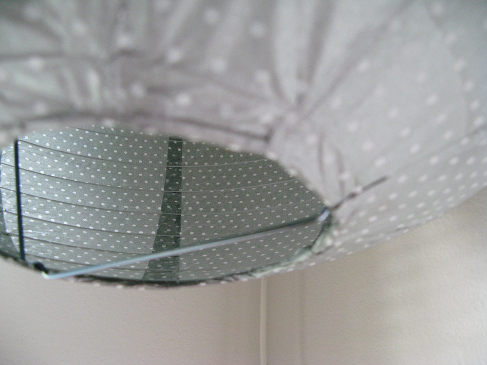 Grey Dotted Paper Lantern