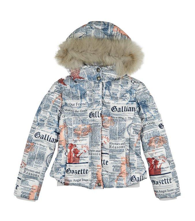 LITTLE STYLE :: 5 Outerwear Options for Little Girls :: John Galliano Gazette Print Bomber Jacket