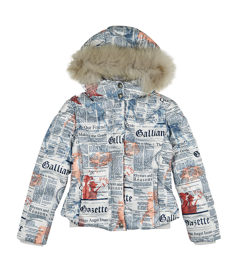 LITTLE STYLE :: 5 Outerwear Options for Little Girls :: John Galliano Gazette Print Bomber Jacket