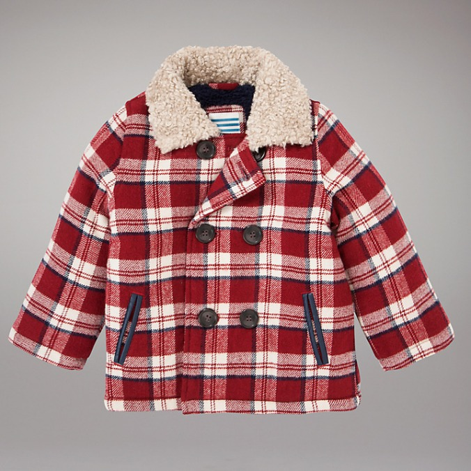 LITTLE STYLE :: 5 Outerwear Options for Little Girls :: John Lewis Checked Lumberjack Jacket, Red