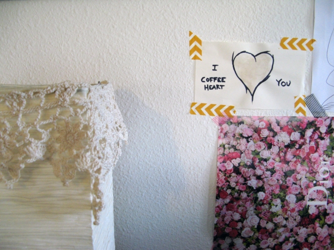 Lace, Roses and Coffee Hearts