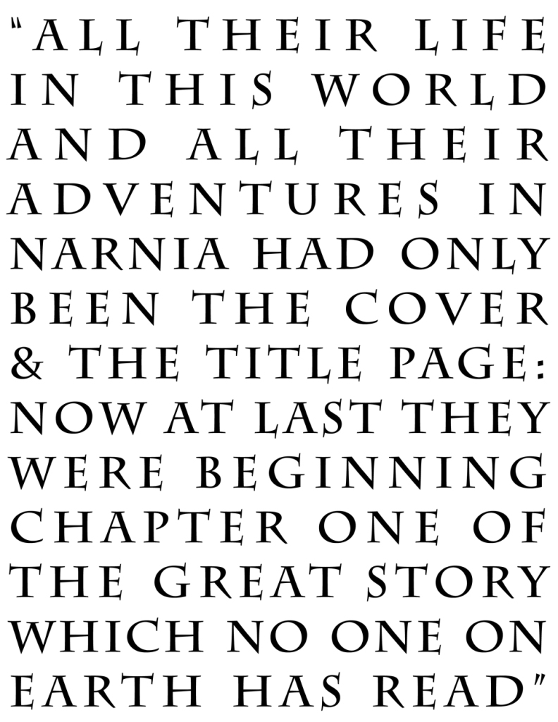 Beginning chapter one of the great story  // 3 Free C.S. Lewis Quote Printables from Oaxacaborn