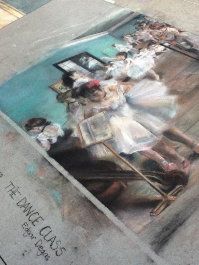 Degas - Chalk Art at Downtown Disney in Florida