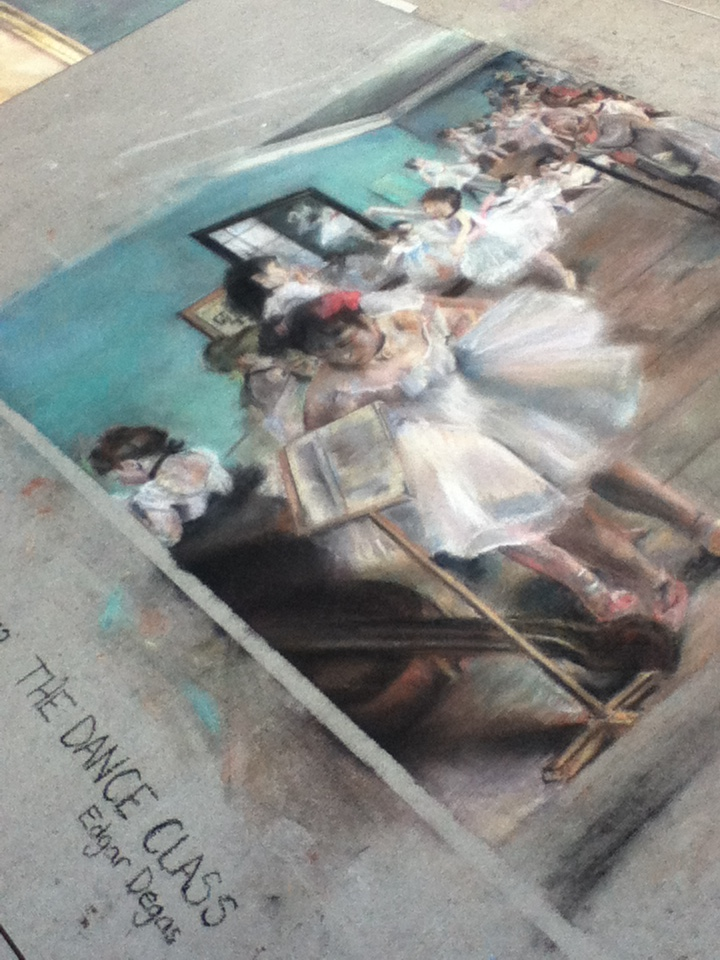 Degas - Chalk Art at Downtown Disney in Florida