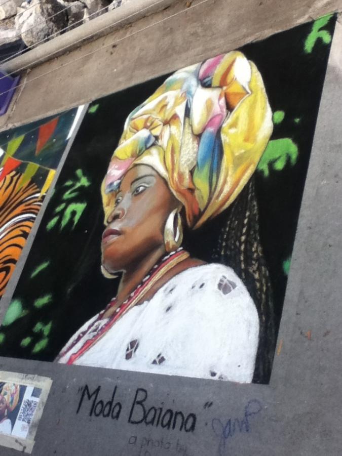 Moda Baiana - Chalk Art at Downtown Disney in Florida