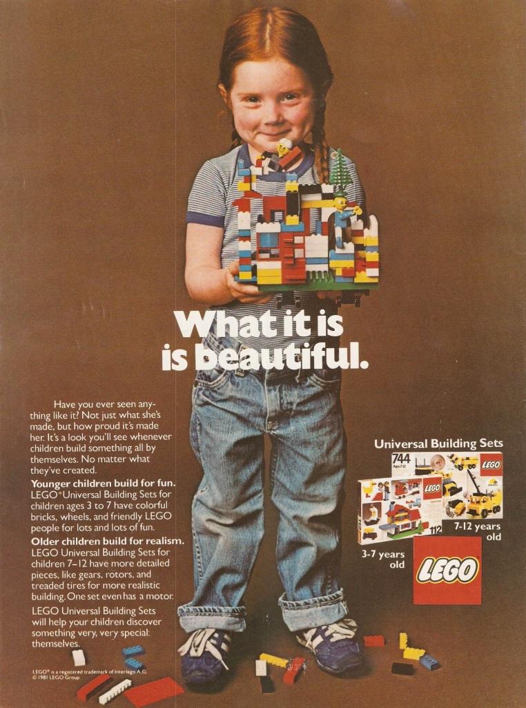 LEGO 1981 ad