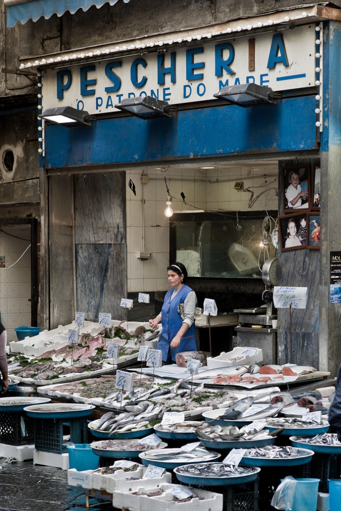 10 Inspiring Storefronts and Cafes from around the World // Fish shop in Naples, Italy // Photograph by André Benedix on Flickr