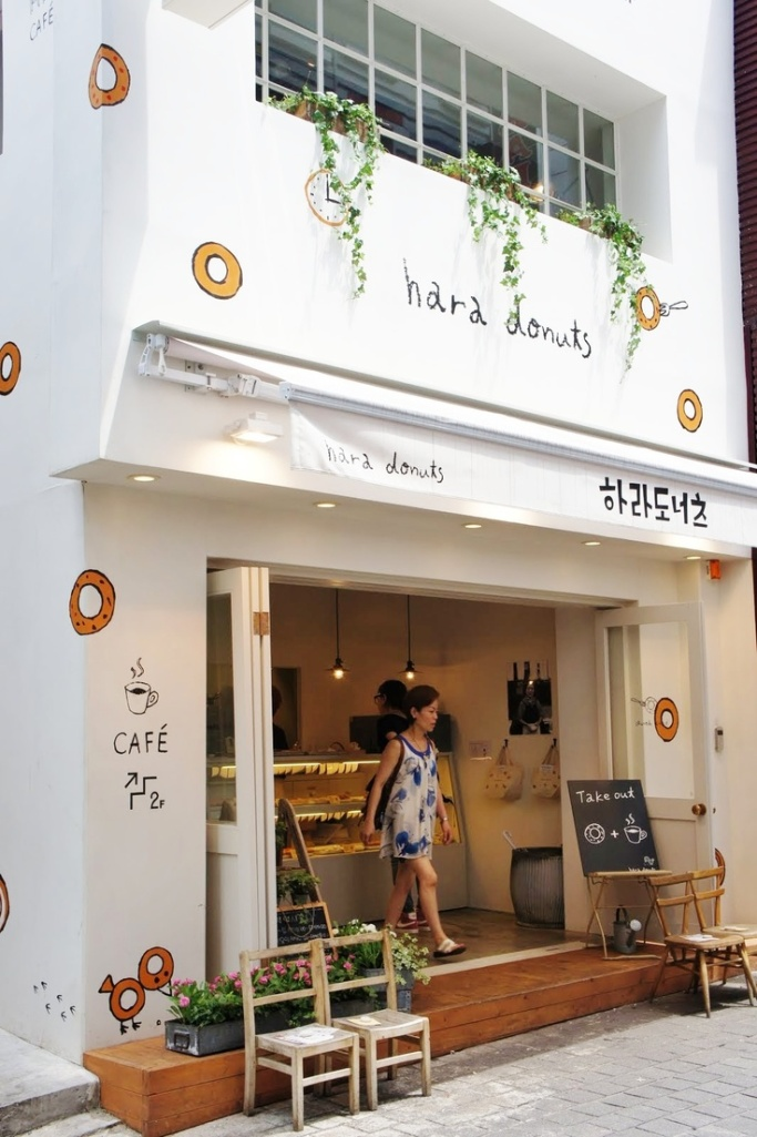 10 Inspiring Storefronts and Cafes from around the World // Hara Donuts Korea