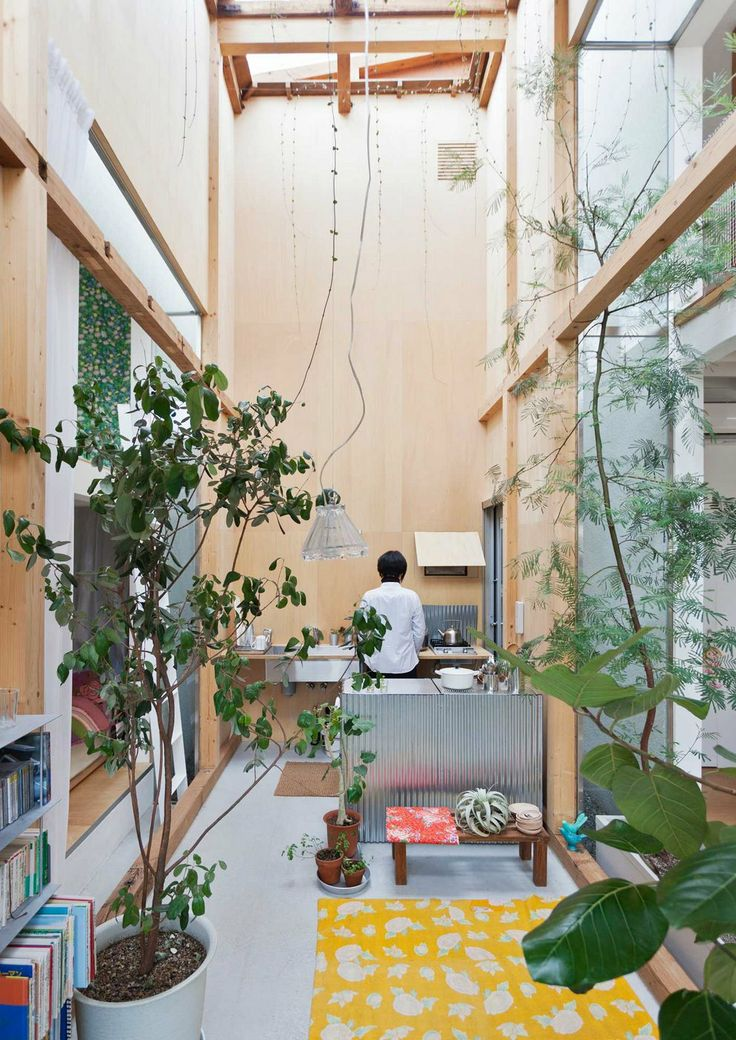 Japanese home renovation with lots of plants via Spoon and Tomago