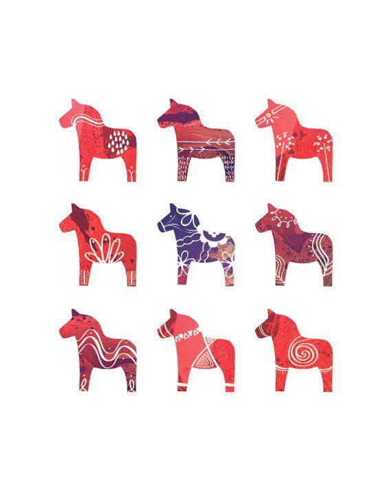 Dala Horse print