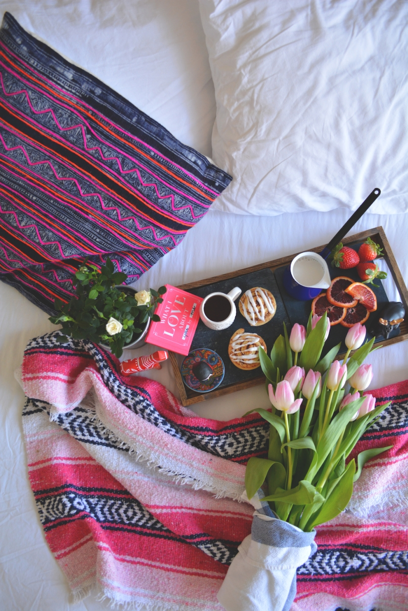Gina Munsey | Oaxacaborn blog for Uncommon Goods | Fresh Tulips, Mexican Blanket, What I Love About You & Soapstone Platter