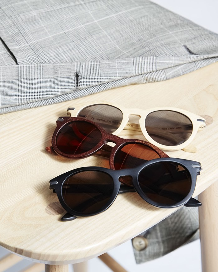 Toast UK SS15 Men Lookbook -- Wooden Sunglasses