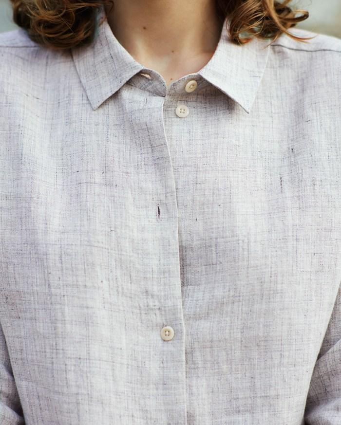 Toast UK SS15 Women Lookbook -- Linen Button-down