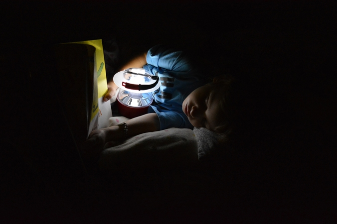 Falling asleep reading