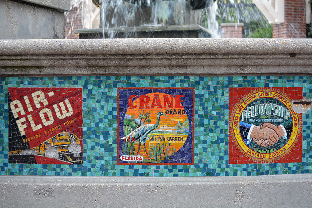 mosaic fountain