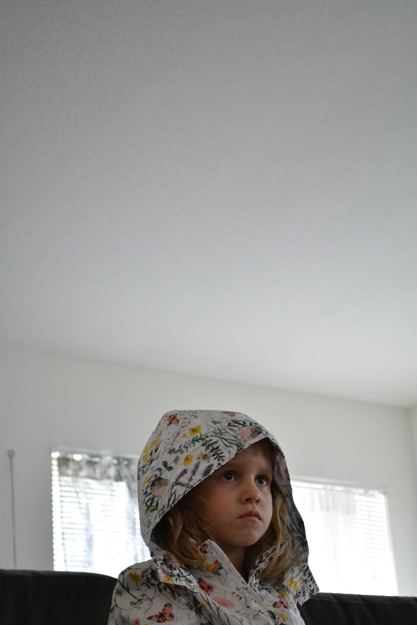raincoat indoors