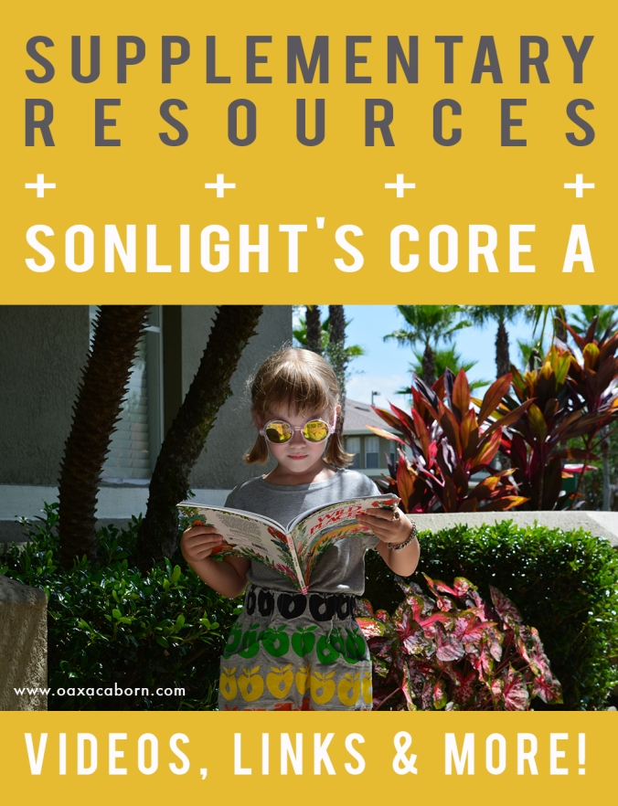 Additional links, printables, books, videos and more | Supplementary Resources for homeschooling with Sonlight Core A | LIST WILL BE UPDATED WEEKLY