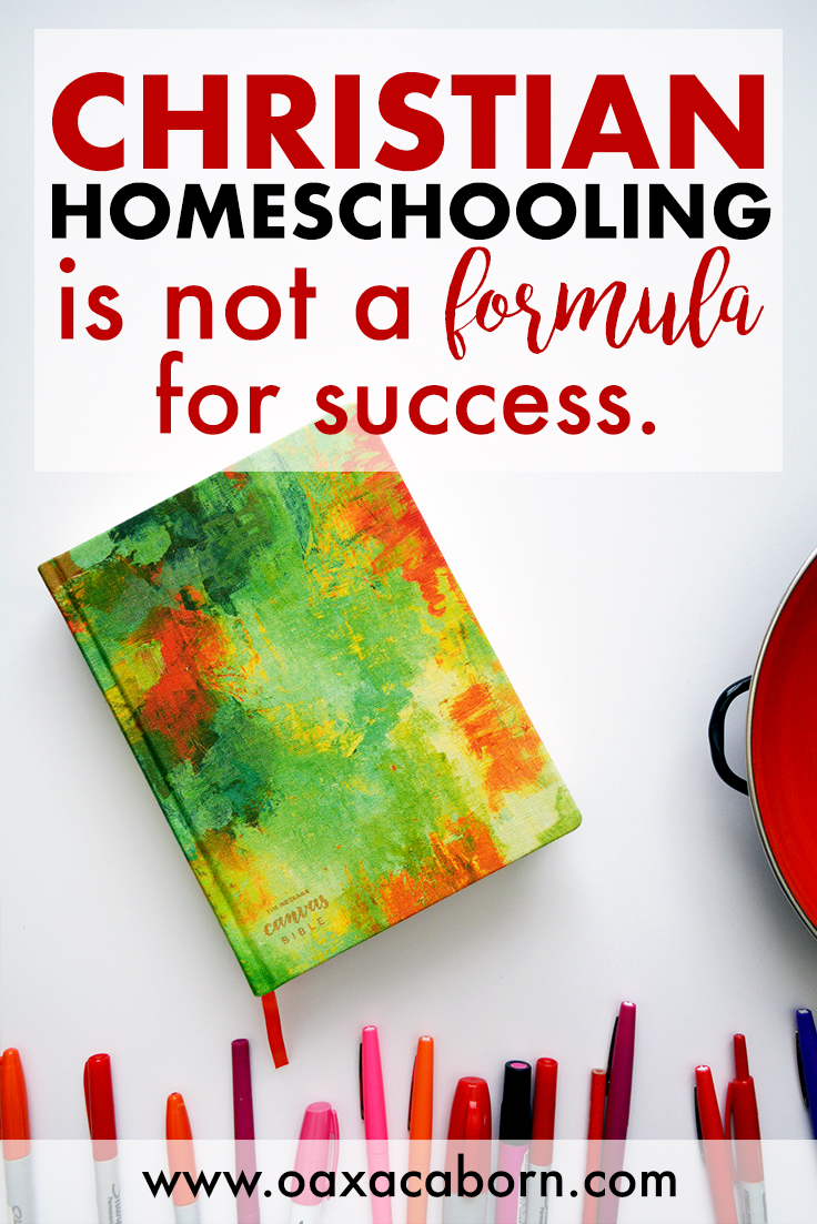 Christian Homeschooling is not a Formula for Success