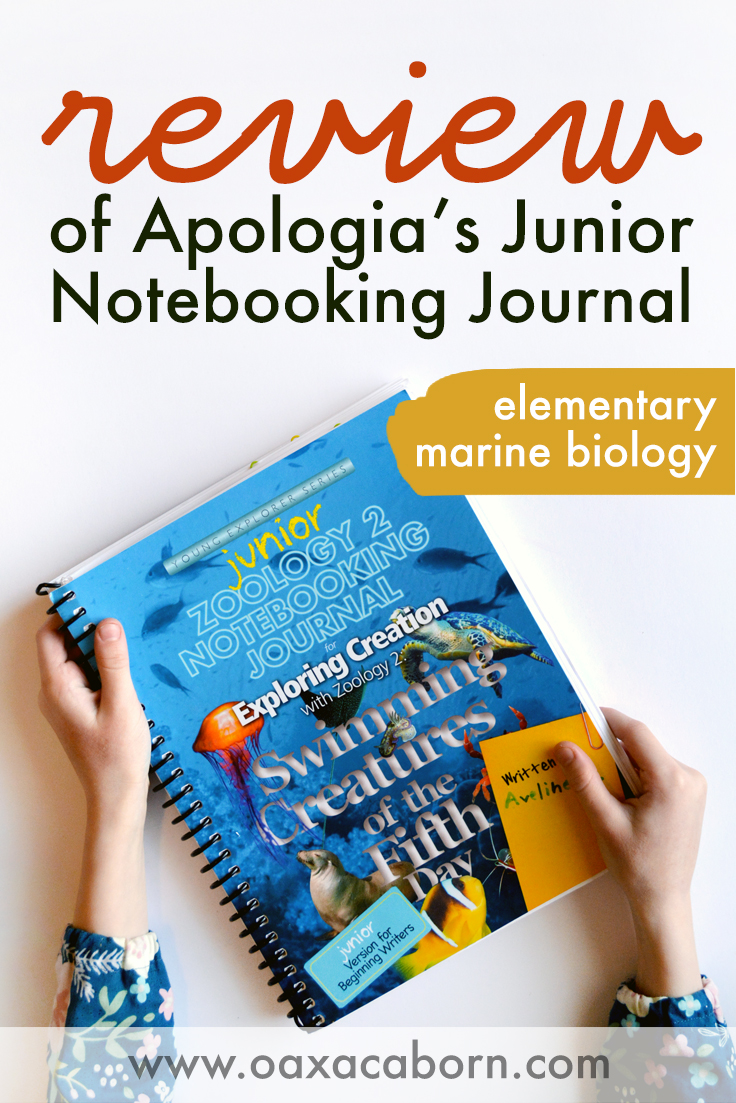 PIN IMAGE for Review of Apologia's Junior Notebooking Journal