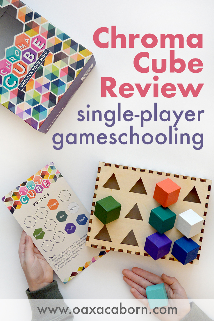 PIN IMAGE Chroma Cube: A Single-Player Game for Gameschooling in your homeschool