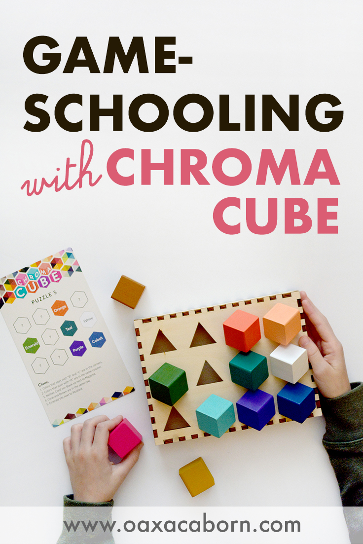 PIN IMAGE:Chroma Cube: A Single-Player Game for Gameschooling in your homeschool