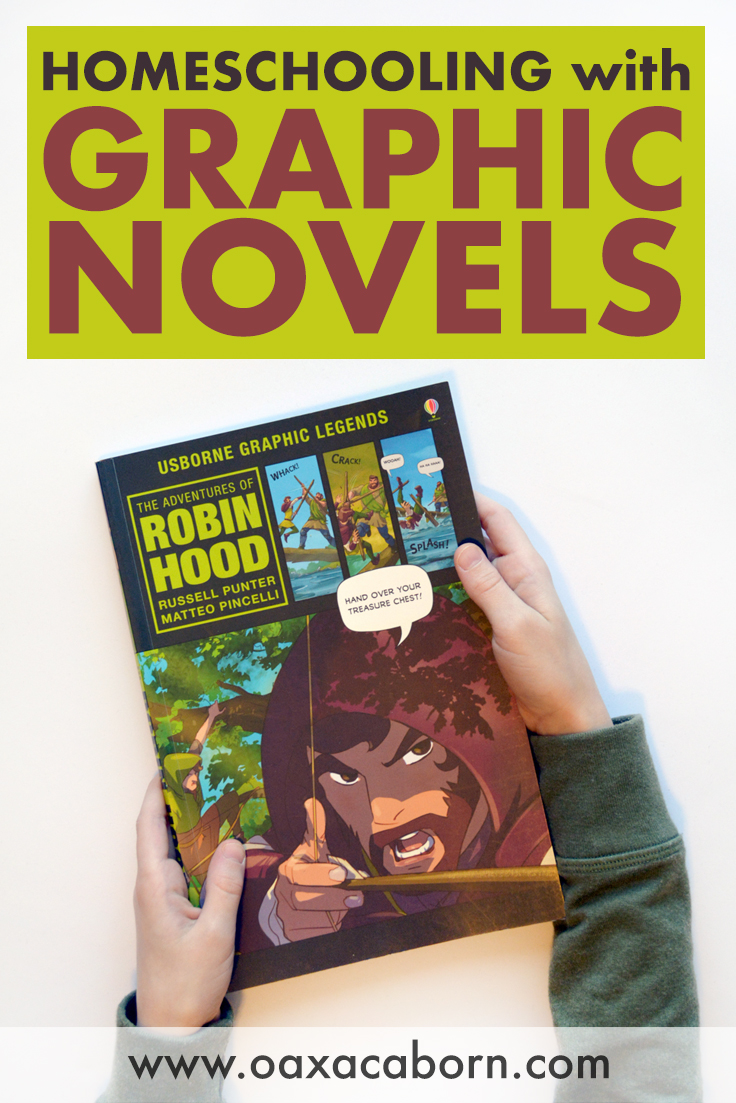 PIN IMAGE: Homeschooling with Graphic Novels