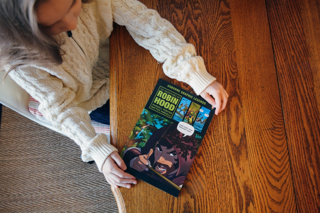 Using Graphic Novels (like Robin Hood!) in your Homeschool: A Timberdoodle Review