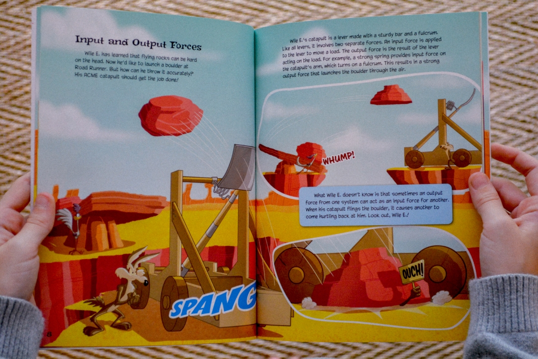 The Most Hilarious Way to Teach Homeschool Physics with the Wile E Coyote Physical Science Genius Books from Timberdoodle