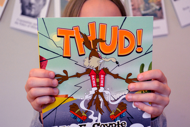 The Most Hilarious Way to Teach Homeschool Physics with the Wile E Coyote Physical Science Genius Books from Timberdoodle- FB IMAGE